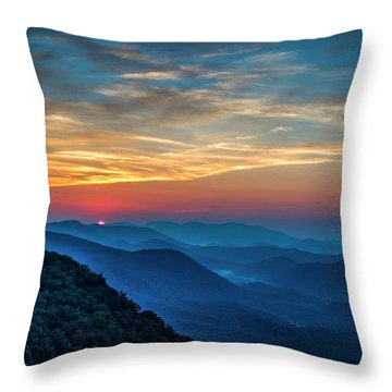 The Rising Sun Pretty Place Chapel Greenville S C Great Smoky Mountain Art Throw Pillow