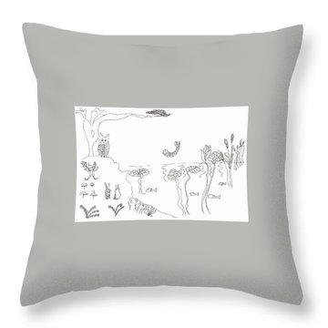 The River Bank Throw Pillow