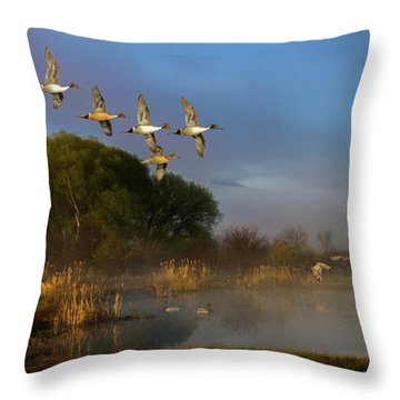 The River Bottoms Throw Pillow by TL Mair