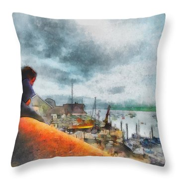The River Exe Throw Pillow