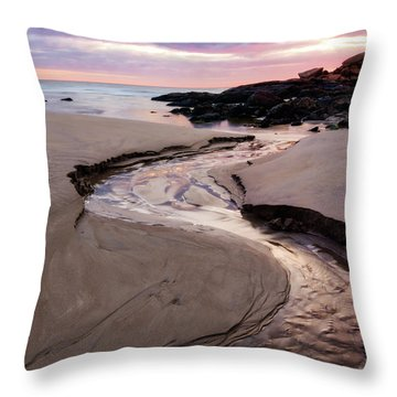 The River Good Harbor Beach Throw Pillow