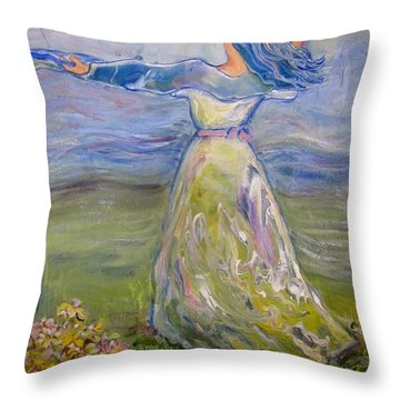 The River Is Here Throw Pillow