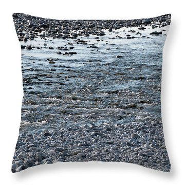 Throw Pillow featuring the photograph The River Of Youth by Helga Novelli