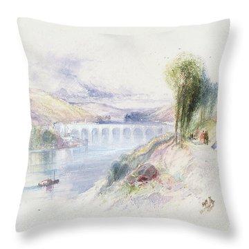 The River Schuykill Throw Pillow by Thomas Moran