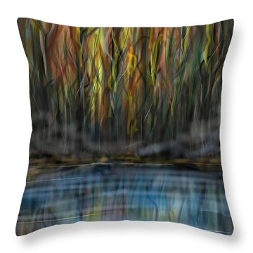The River Side Throw Pillow