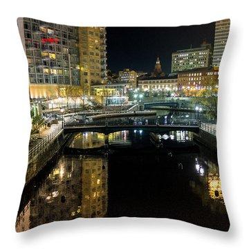 The River Walk Throw Pillow