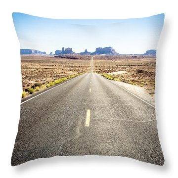 Throw Pillow featuring the photograph The Road Ahead by Jason Smith
