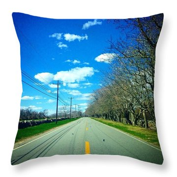 The Road Between  Throw Pillow
