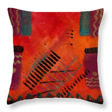 Throw Pillow featuring the painting The Road Between Us by Angela L Walker