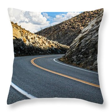 Throw Pillow featuring the photograph The Road by Break The Silhouette