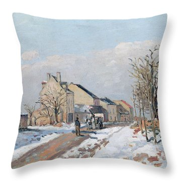 The Road From Gisors To Pontoise Throw Pillow by Camille Pissarro