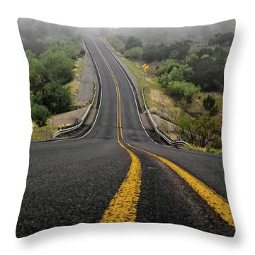 The Road Goes On Forever And The Party Never Ends Throw Pillow