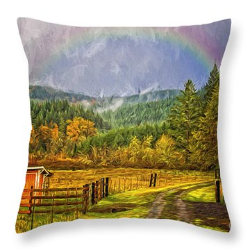 The Road Home Throw Pillow by Billie-Jo Miller
