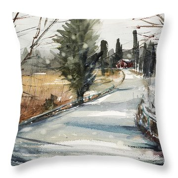 The Road Home Throw Pillow by Judith Levins