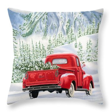 The Road Home Throw Pillow by Sarah Batalka