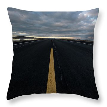 The Road Throw Pillow by Justin Johnson