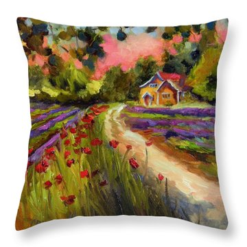 The Road Leads Back To You Throw Pillow