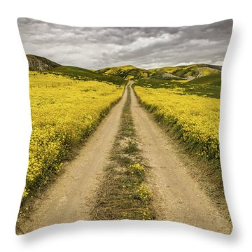 Throw Pillow featuring the photograph The Road Less Pollenated by Peter Tellone