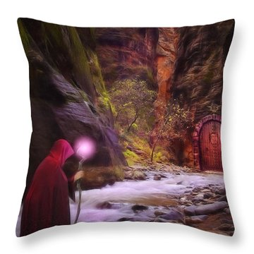 The Road Less Traveled Throw Pillow by John Edwards