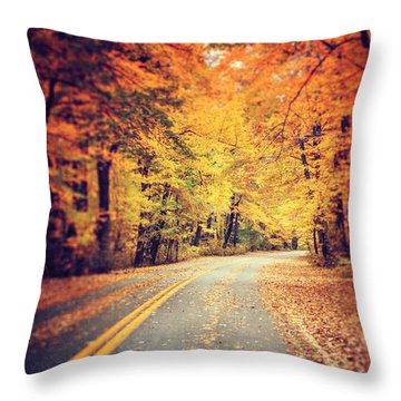 The Road Less Traveled Throw Pillow by Lisa Russo
