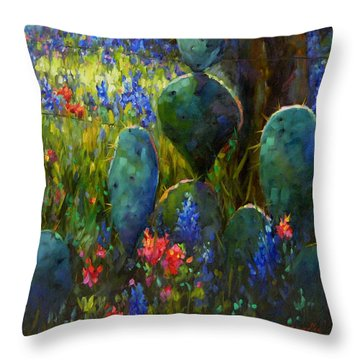 Throw Pillow featuring the painting The Road Less Travelled by Chris Brandley