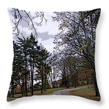Throw Pillow featuring the photograph The Road Not Taken by Skyler Tipton