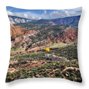 The Road To Blue Mountain Throw Pillow