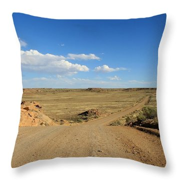 The Road To Chaco Throw Pillow