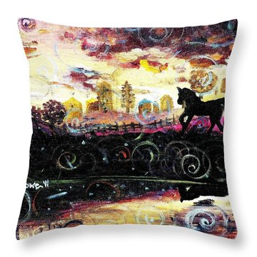 Throw Pillow featuring the painting The Road To Home by Shana Rowe Jackson