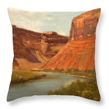 The Road To Moab Throw Pillow
