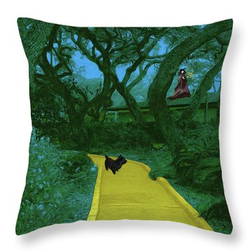 The Road To Oz Throw Pillow