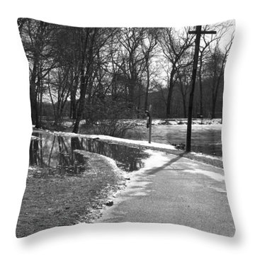 The Road To Paradise Throw Pillow