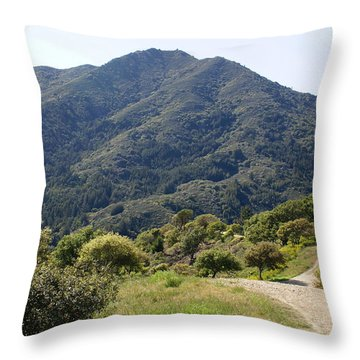 Throw Pillow featuring the photograph The Road To Tamalpais by Ben Upham III