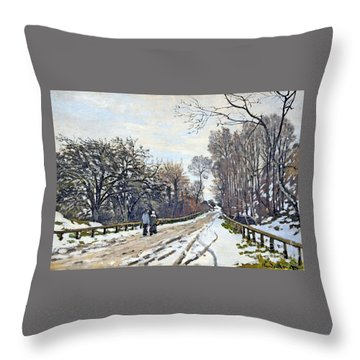The Road To The Farm Of St. Simeon Throw Pillow by Monet