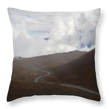 Throw Pillow featuring the photograph The Road To The Snow Goddess by Ryan Manuel