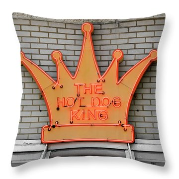 The Roanoke Weiner Stand 1 Throw Pillow