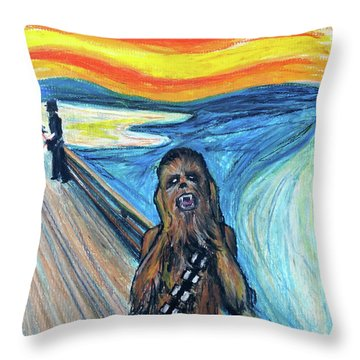The Roar Throw Pillow by Tom Carlton