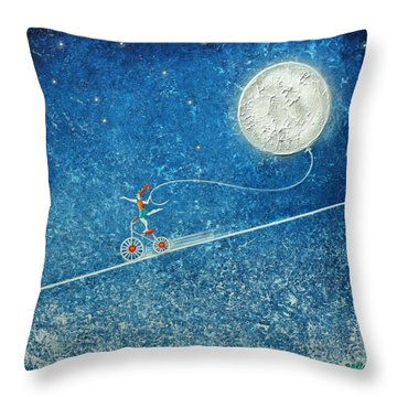 The Robbery Of The Moon Throw Pillow