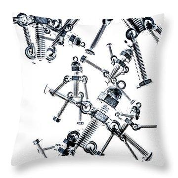 The Robot Dance Throw Pillow