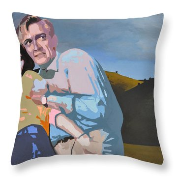 The Robots Are Coming Throw Pillow by Geoff Greene