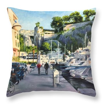 The Rock Ahead Throw Pillow