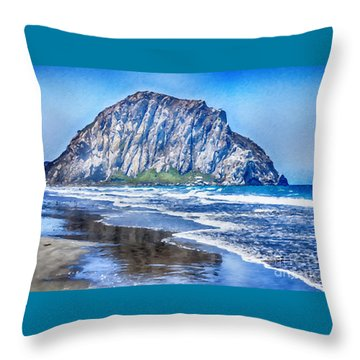 The Rock At Morro Bay Large Canvas Art, Canvas Print, Large Art, Large Wall Decor, Home Decor, Photo Throw Pillow