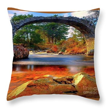 The Rock Bridge Throw Pillow