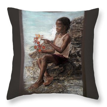 The Rock Garden Throw Pillow
