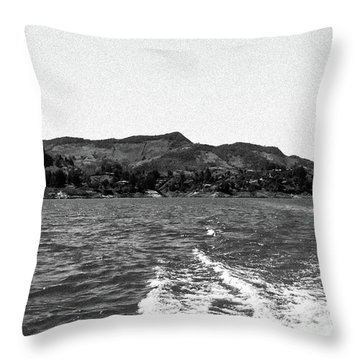 The Rock Of Guatape Throw Pillow