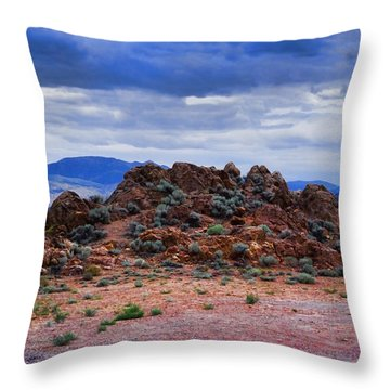 Throw Pillow featuring the photograph The Rock Stops Here by B Wayne Mullins