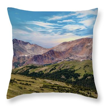 Throw Pillow featuring the photograph The Rockies by Bill Gallagher