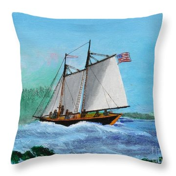The Cliffs At Baccalieu Throw Pillow