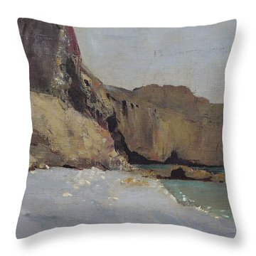 The Rocks At Vallieres Throw Pillow