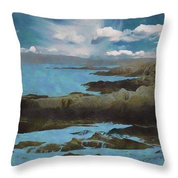 The Rocky Maine Coast. Throw Pillow